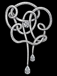 A deconstructed camellia brooch from Chanel Fine Jewelry.