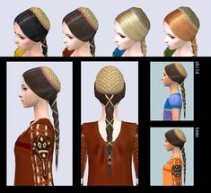 Italian Renaissance Hair and Gown for female by Renaissance Hat, Renaissance Hairstyles, Italian Renaissance, The Sims, Sims 4, Romeo Costume, Sims Medieval, Sims 3 Mods, Wide Face