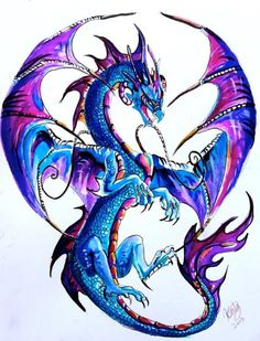 Purple and blue dragon tattoo Are you looking for dragon tattoo designs? Well here are 10 color dragon tattoo ideas for you. Drawings, Fantasy Art, Dragon Artwork, Tattoo Designs Men, Dragon Tattoo Designs, Art, Fairy Art, Fantasy Dragon, Tattoo Designs