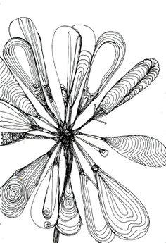 "Pen and Ink, Drawing ""Flower Online Artist: Miki Sandorov; Pen and Ink, Drawing ""Flower Art And Illustration, Art Sketches, Art Drawings, Drawn Art, Atelier D Art, Ink Art, Love Art, Doodle Art, Painting & Drawing"