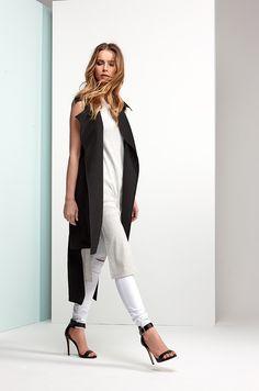 48b4a19571af61 Make Way Maple Trench Vest Black. Bubbleroom.com