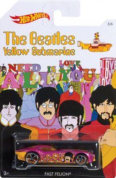 Hot Wheels 2016 The Beatles Yellow Submarine Fast Felion