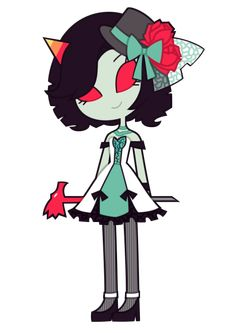 Can-can Terezi Pyrope from Homestuck. Cute!