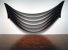 "Milwaukee Art Museum - Robert Morris (American, b. 1931), Untitled, 1970.  It should be called ""smile."""