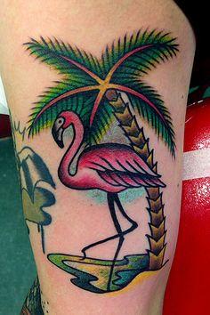 Bilderesultat for flamingo tattoo