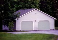 24' x 24' x 8' 2-Car Garage with Hand-Framed Rafters and Gable Entry