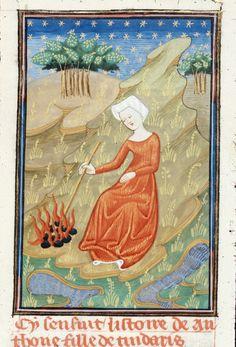 Manto     Giovanni Boccaccio TitleDe claris mulieribus in an anonymous French translation (Le livre de femmes nobles et renomées) OriginFrance, N. (Rouen) Datec. 1440