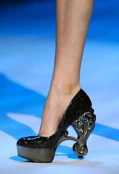 Christian Siriano. This shoe is both freaky and seriously intriguing.