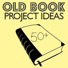 50 Things to do with Old Books.but falling in love with all my new OLD books. Book Projects, Diy Projects To Try, Craft Projects, Project Ideas, Old Book Crafts, Book Page Crafts, Diy Old Books, Do It Yourself Inspiration, Diy Inspiration