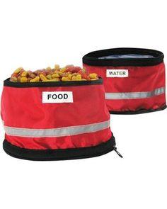 Fold 2 Go Travel Pet Bowls - Red