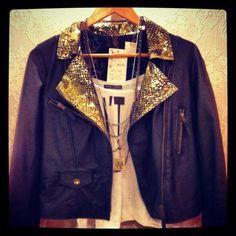 Golden Leather Jacket! In Mundo Diseño