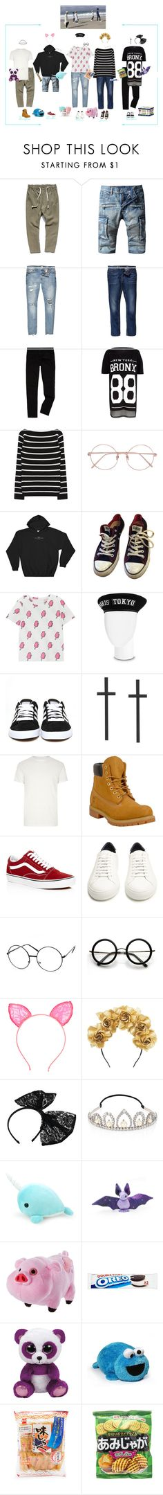 """""""PTX Busan Fansign"""" by purrfectas ❤ liked on Polyvore featuring River Island, Levi's, Linda Farrow, Converse, adidas, Timberland, Vans, Givenchy, ZeroUV and Maggie Mowbray Millinery"""