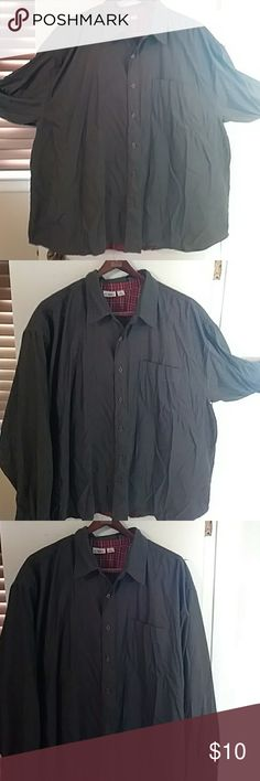 Men's button-up long-sleeve dress shirt 3XL This long sleeve button-up dress shirt one pocket on the chest size 3XL in men's is in like new condition husband only wore it once to church George Shirts Dress Shirts