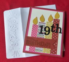 """great idea to emboss """"celebrate"""" on envelope"""
