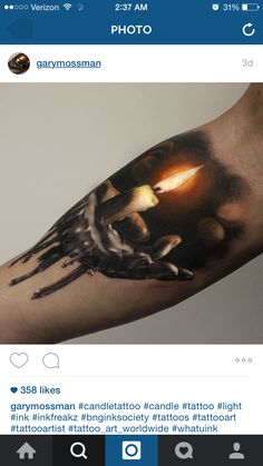 Candle tattoo