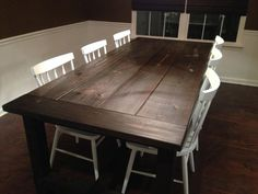 Farm House Style Distressed Hand Made Dining Table by scratchNdent, $650.00