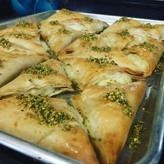 Food Illustration Description Middle Eastern Desserts: Warbat or Kullaj (cheese stuffed phyllo dough) Armenian Recipes, Lebanese Recipes, Greek Recipes, Indian Food Recipes, Lebanese Desserts, Middle East Food, Middle Eastern Dishes, Arabic Dessert, Gourmet