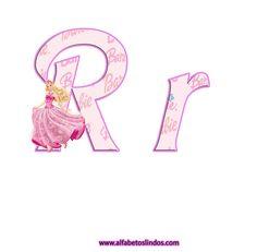 VISITE A GALERIA DE ALFABETOS  CLICANDO AQUI!   __    Criei este alfabeto porque muitas mamães deixaram pedido de um alfabeto rosa da Barbie...