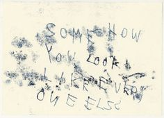 Tracey Emin. Everyone Else. 1998.