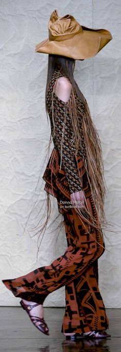 Donna Karan Spring 2014 New York Fashion Week - bcr8tive #bohemian ☮k☮ #boho