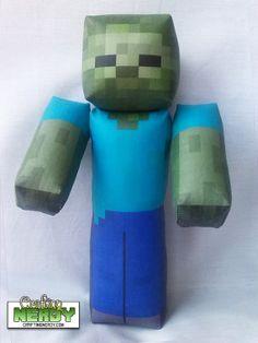 Plush Minecraft Inspired Zombie toy by CraftingNerdy on Etsy, $17.99