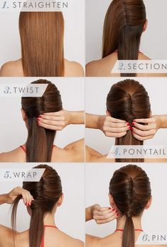 5 minutes Sexy Office Hairstyles for Women - Our hairstyles become so much monotonous at the office. But do you know, that a couple of minutes spent a night before in deciding what to wear can actually save a lot of time in the morning? Office Hairstyles, Business Hairstyles, Trendy Hairstyles, Straight Hairstyles, Braided Hairstyles, Long Haircuts, Hairstyles 2018, Beautiful Hairstyles, Easy Professional Hairstyles