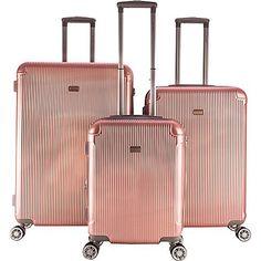 New Trending Luggage: Gabbiano Genova 3 Piece Expandable Hardside Spinner Luggage Set (Rose Gold). Gabbiano Genova 3 Piece Expandable Hardside Spinner Luggage Set (Rose Gold)  Special Offer: $269.00  366 Reviews Super lightweight Gabbiano Luggage set. 20-inch upright: 20″h x 15″w x 10″d / 7.2lb. 26-inch upright: 26″h x 18″w x 11″d / 8.8lb. 30-inch...