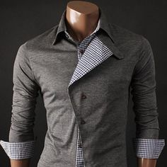 Buttoned up. #casual #lined #buttonup