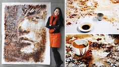 Watch This Artist Create a Caffeinated Masterpiece With Coffee Cup Stains. OK, NOT teabag art - but COFFEE ART has to be a kissing cousin!!!