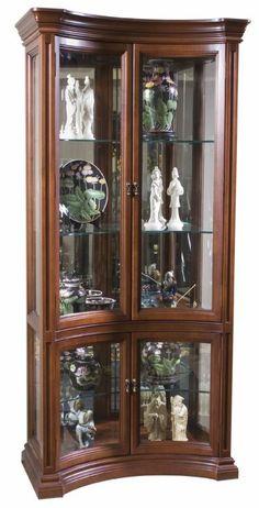 Concave Curio Cabinet
