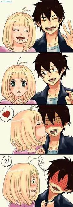 Rin and Sheimi/Photobooth/ Ao no Exorcist