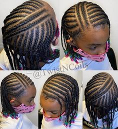 African Baby Hairstyles, Toddler Braided Hairstyles, Black Kids Hairstyles, Cute Little Girl Hairstyles, Baby Girl Hairstyles, Natural Hairstyles For Kids, Natural Hair Styles, Little Girl Braid Styles, Kid Braid Styles