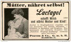 Original-Werbung/ Anzeige 1908 - LACTAGOL - MÜTTER NÄHRET SELBST ! / PEARSON HAMBURG ca. 90 x 50 mm