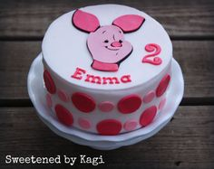 Fondant Cake Topper Piglet by SweetenedbyKagi on Etsy, $24.95