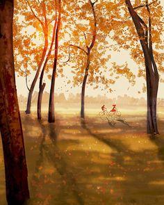 The days of the long shadows. #pascalcampion #pascalcampionart #sketchoftheday #illustration