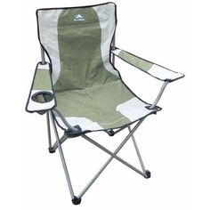 Simple and Cheap Camping Armchair with Drinks Holder