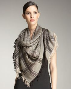 Cavendish Scarf, Beige/Gold by Gucci at Neiman Marcus.