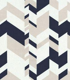 Nate Berkus Home Decor Print Fabric- Forde Paramount Moonstone