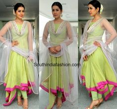 raashi khanna green anushreereddy anarkali memusaitham show 600x559 photo