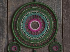 Green dream catcher Large Dream catcher Dreamcatcher Home Green Colors, Pink Color, Colours, Large Dream Catcher, Different Tones, Color Calibration, Wooden Beads, Natural Materials, Light In The Dark