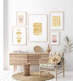 Gold Wall Decor, Gold Wall Art, Home Printers, Gold Print, Wall Art Sets, Abstract Wall Art, Bedroom Wall, Artwork Prints, Printable Wall Art