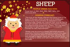 Lucky, unlucky signs in Year of the Sheep
