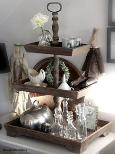 my french farm house . Tiered Stand, Tray Decor, Decoration, Interior Design Living Room, Fall Decor, Home Accessories, Farmhouse Decor, Diy Home Decor, Kitchenettes