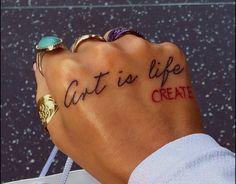 Pretty Hand Tattoos, Dainty Tattoos, Girly Tattoos, Unique Tattoos, Cute Tattoos, Small Tattoos, Tatoos, Red Ink Tattoos, Mini Tattoos