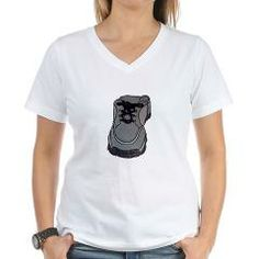 tennis shoe Women's V-Neck T-Shirt> tennis shoe> BLAME MY PARENTShttp://www.cafepress.com/blamemyparents/5546564