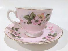 Colclough Tea Cup and Saucer Pink Tea Cups