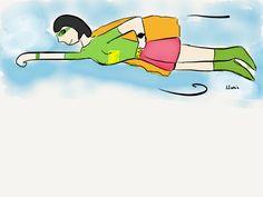 Super Monday #haveaniceday #superhero #supergirl #illustration #drawing #art #artist