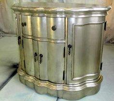silver painted furniture – LOVE it!! | best stuff