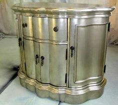 silver painted furniture