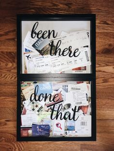 Many people believe that there is a magical formula for home decoration. You do things… Vacation Memories, Travel Memories, Cute Crafts, Crafts To Do, Travel Wall Decor, Craft Projects, Projects To Try, Boyfriend Gifts, Diy Gifts